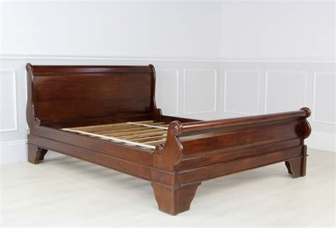 Mahogany Sleigh Bed New Solid Mahogany Sleigh Bed 5ft King Size Low Foot Board Ebay