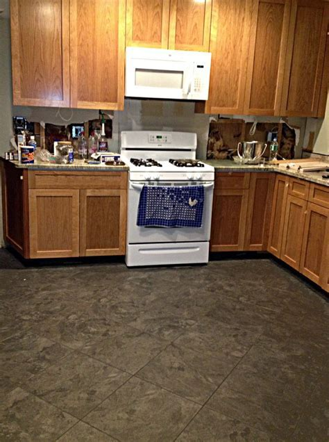 Armstrong Alterna Mesa Stone Charcoal in my kitchen. I
