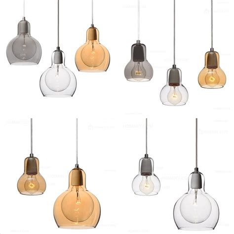 Mini Chandelier Pendant Lights Glass Mini Pendant Light Ceiling Lighting Fixture Chandelier Clear Gray Ebay