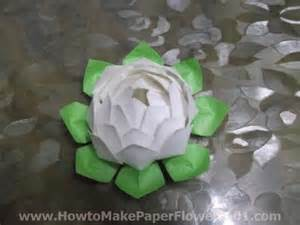 How To Make Paper Lotus How To Make A Paper Lotus Flower How To Make Paper Flowers