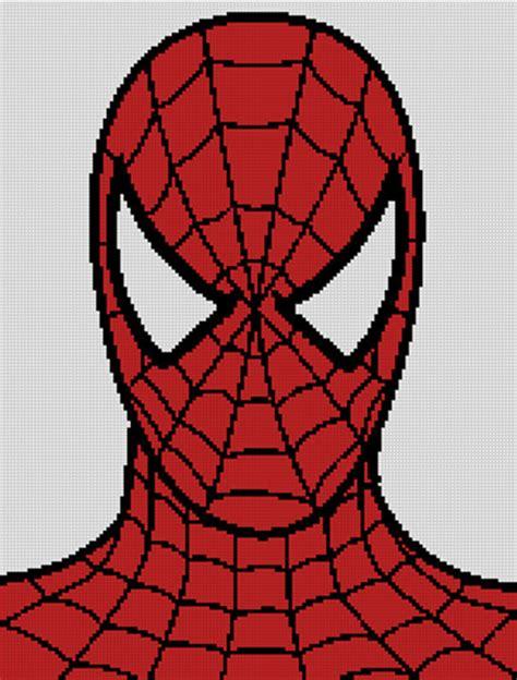 pattern spiderman free cross stitch chart pattern spiderman cartoon comic