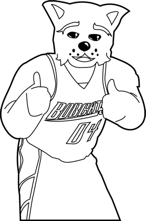 nba mascots coloring pages charlotte bobcats free coloring pages