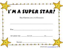 printable super star award certificates templates