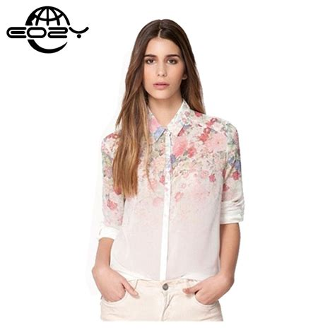 down blouses for 2013 video star travel international down blouses for s m l 2016 women shirts blouses chiffon flower print woman