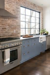 brick kitchen backsplash contemporary kitchen pinney