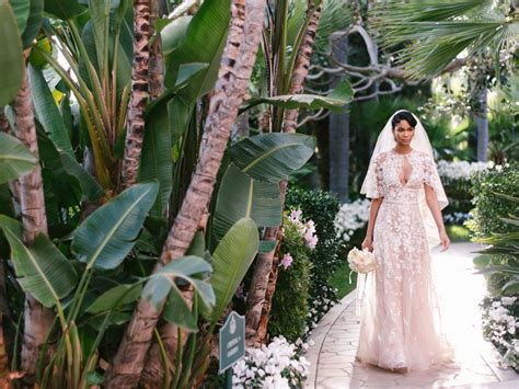 chanel iman married chanel iman got married to sterling shepard and her dress