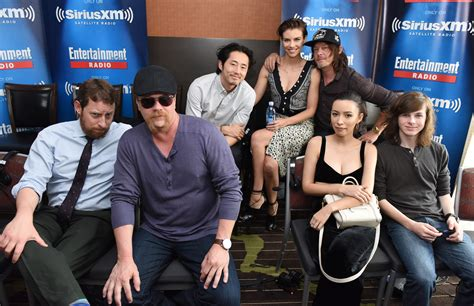 the walking dead cast 2016 ew radio at comic con in san diego aliens the walking