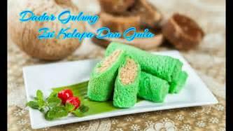 resep dan cara membuat kue dadar gulung manis isi kelapa dan gula merah youtube