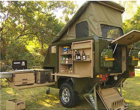 Conqueror popup trailer has a place for everything and is