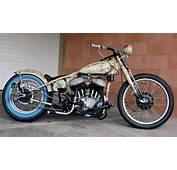 1942 Harley WLA Flathead Bobber In Weathered Desert