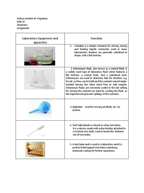 Uses Of L In Laboratory Apparatus by Chemistry Apparatus
