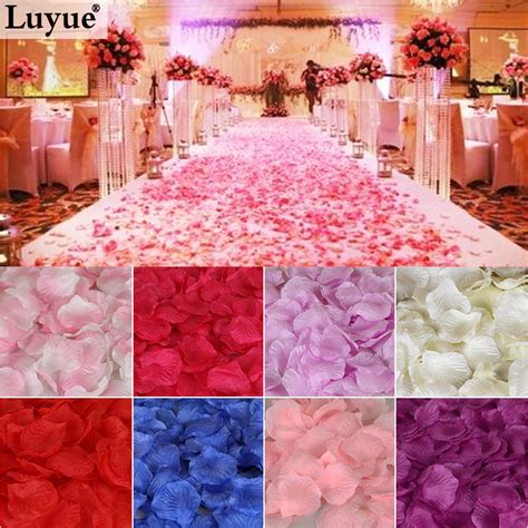 50 Pcs Table Confetti Decoration Silk Petals Flower top quality 500pcs or 1000pcs silk flower petals