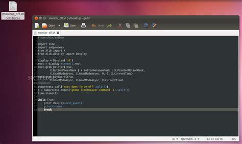 python xlib tutorial easily turn off lcds with a shortcut key in ubuntu