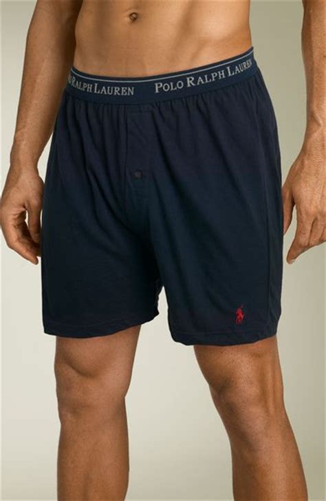 knit boxer shorts polo ralph knit boxer shorts in blue for navy
