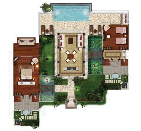 2 floor villa plan design the nature sanctuary eco luxury resort residences