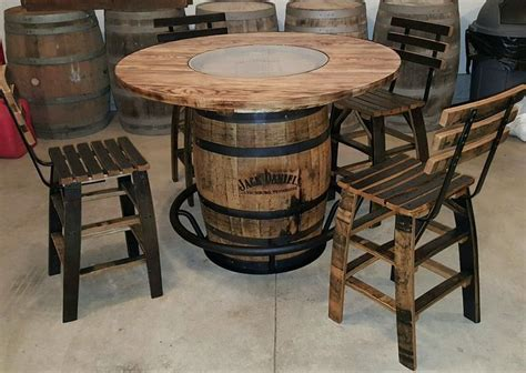 how to a whiskey barrel table 1000 ideas about whiskey barrel table on