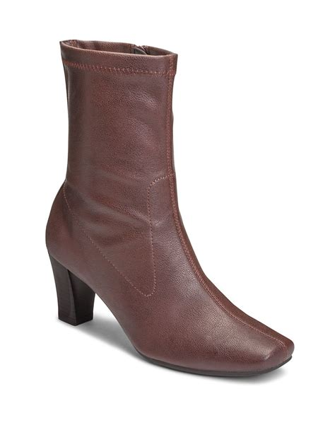 aerosole boots aerosoles geneva mid calf boots in brown wine lyst