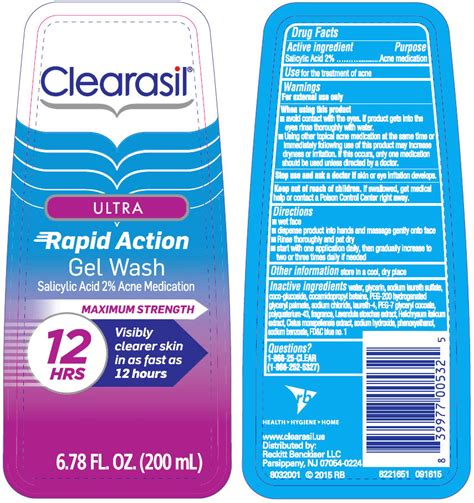 Label Ultra 200ml Dinosaur dailymed clearasil ultra rapid daily wash salicylic acid gel