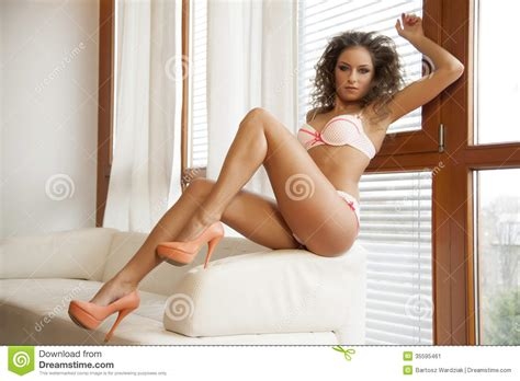 adults in bed hot beautiful brunette in bed stock image image 35595461