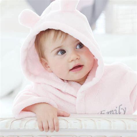 www baby pink fleece baby robe by my 1st years notonthehighstreet com