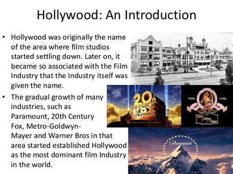 film hollywood it a research on the hollywood film industry