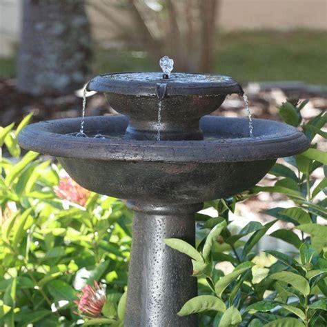 home depot solar fountains garden elegant solar garden