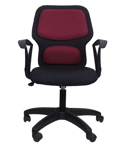 Maroon Office Chair by Office Chair In Maroon Buy Rs 3500 Snapdeal