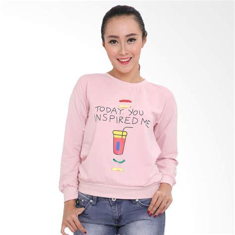 Baju Atasan Wanita Outerwear Cat Pink jual lemone swe100013 premium baju atasan sweater wanita pink harga kualitas