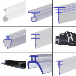 Shower Door Plastic Seal Pvc Soft Rubber Shower Seal Extrusion For Fold Folding Sliding Glass Door Ebay