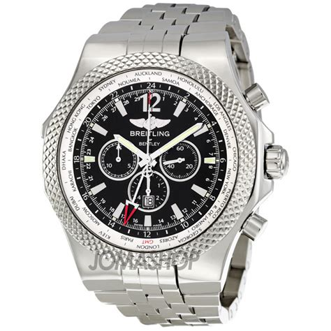 breitling bentley gmt chronograph black automatic