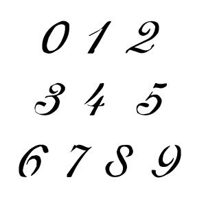 printable old english numbers flickriver photoset number stencils by stencilease