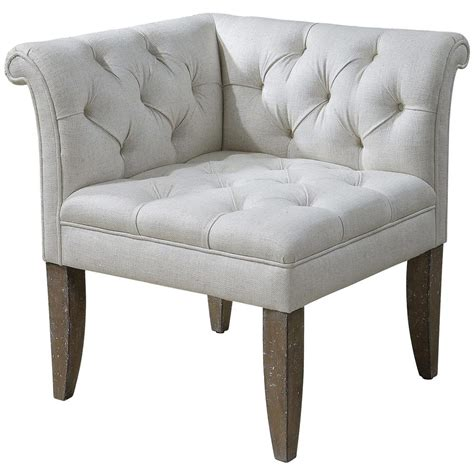 corner bedroom chair trenton french country tufted beige linen corner chair