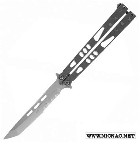 serrated butterfly knife microtech tachyon ii 172 11 te stonewash serrated