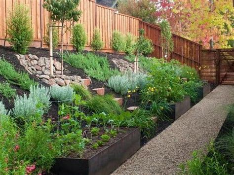 small sloped backyard landscape design ideas for sloped backyard backyard