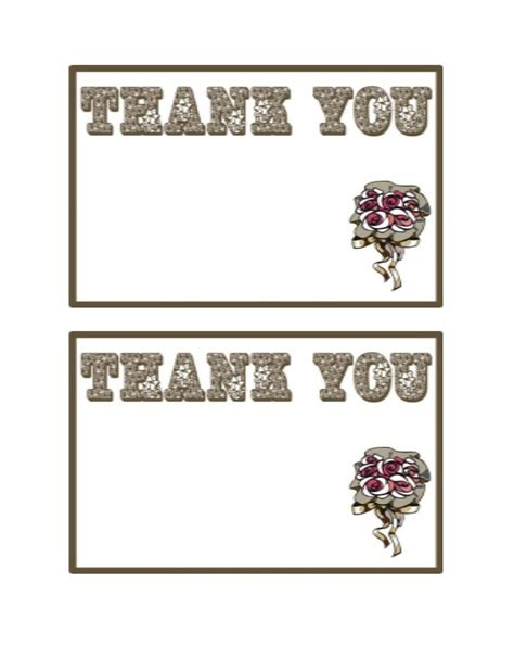 thank you postcard template free 30 free printable thank you card templates wedding