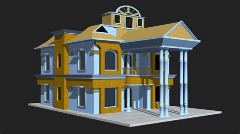 model house building 3d model 3d house building vr ar low poly cgtrader com