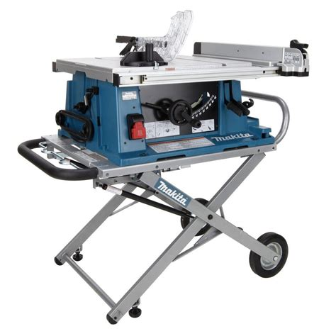 portable table saw bench makita 2705x1 10 in portable contractor table saw with