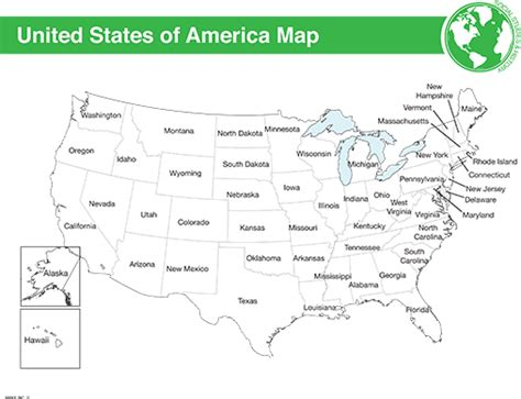 map of the united states handout printable us map worksheet black decker laminating