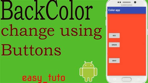 android studio onclick tutorial background colour buttons onclick android studio