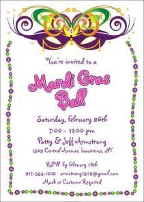 mardi gras invitations personalized mardi gras favor ideas