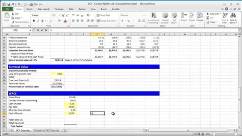 exle discounted cash flow model financial modeling quick lesson building a discounted