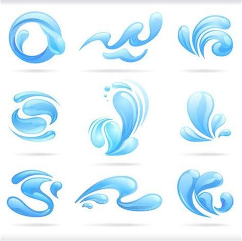 splash of blue water drops vector illustratio vector graphics clipart me