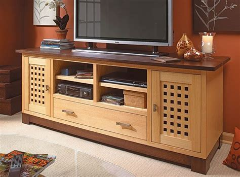 wide screen tv cabinet woodworking plan tv stands