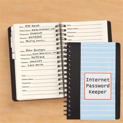 password book password keeper journal organizer notebook books password keeper password keeper notebook