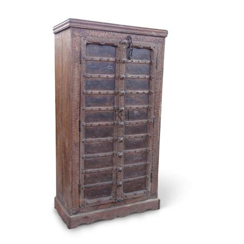 Large Wood Wardrobes Prop Hire 187 Furniture 187 Large Studded Wooden Wardrobe