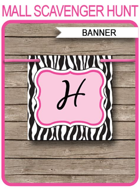 pink zebra birthday banner template birthday banner