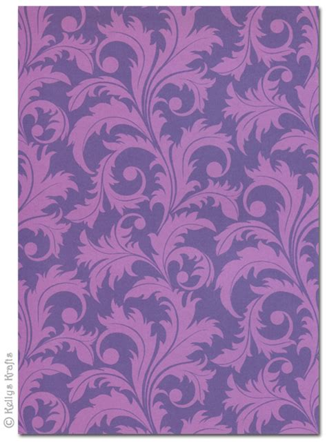 Purple Craft Paper - patterned card card scrapbooking