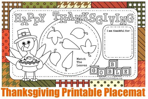 thanksgiving coloring placemats 12 free printable thanksgiving activity placemats and