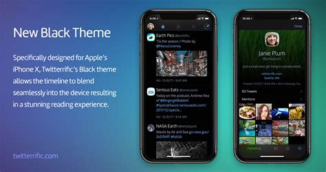 themes idownloadblog twitterrific unveils iphone x optimized black theme and