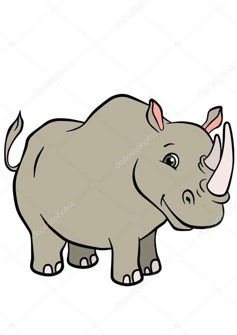 imagenes de animales salvajes para niños dibujos animados animales salvajes para ni 241 os rinoceronte